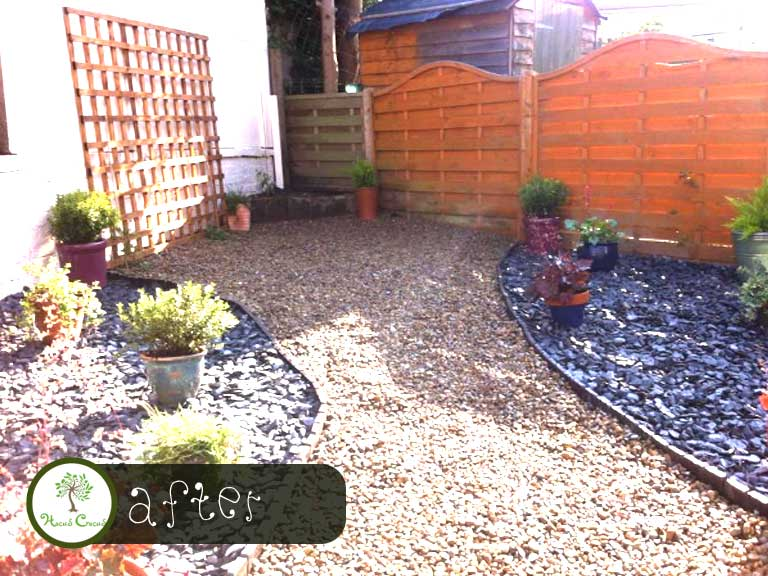 Before & After Garden Borders & Aggregates